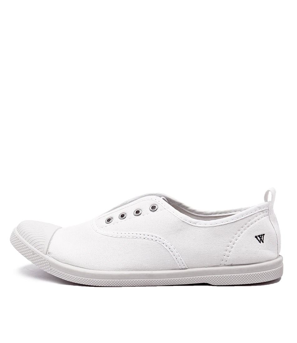 Buy Walnut Euro Plimsole WhiteSneakers online with free shipping