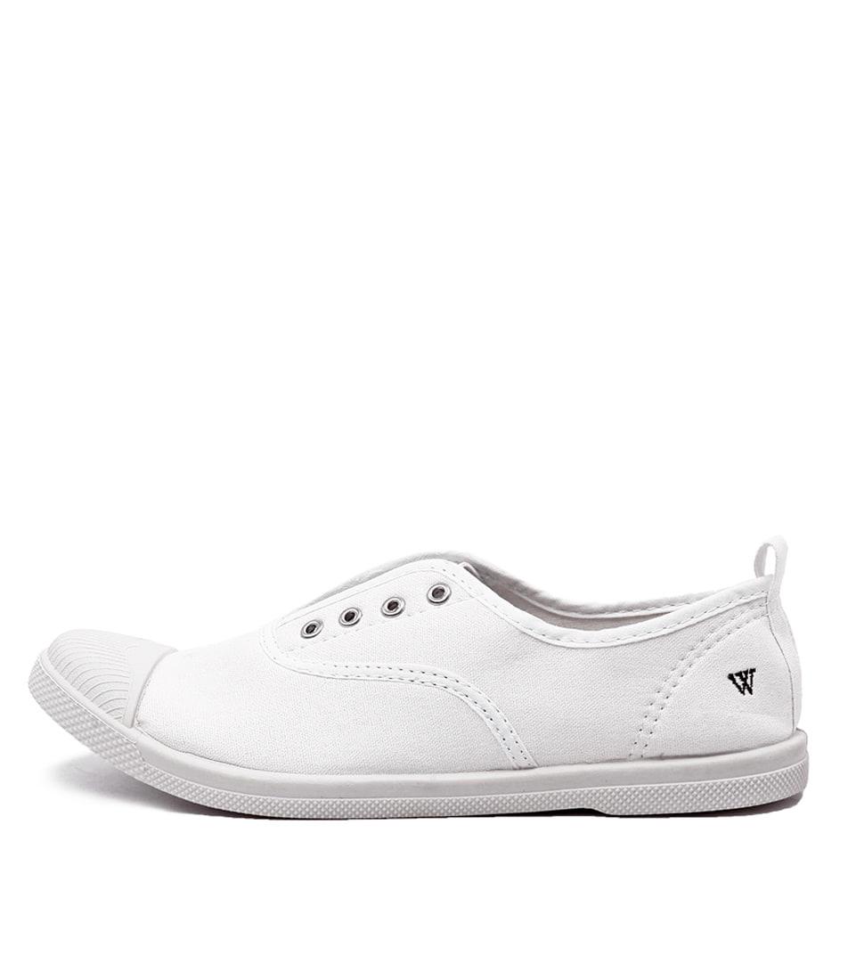 buy Walnut Euro Plimsole White Flat Shoes shop Walnut Flats online