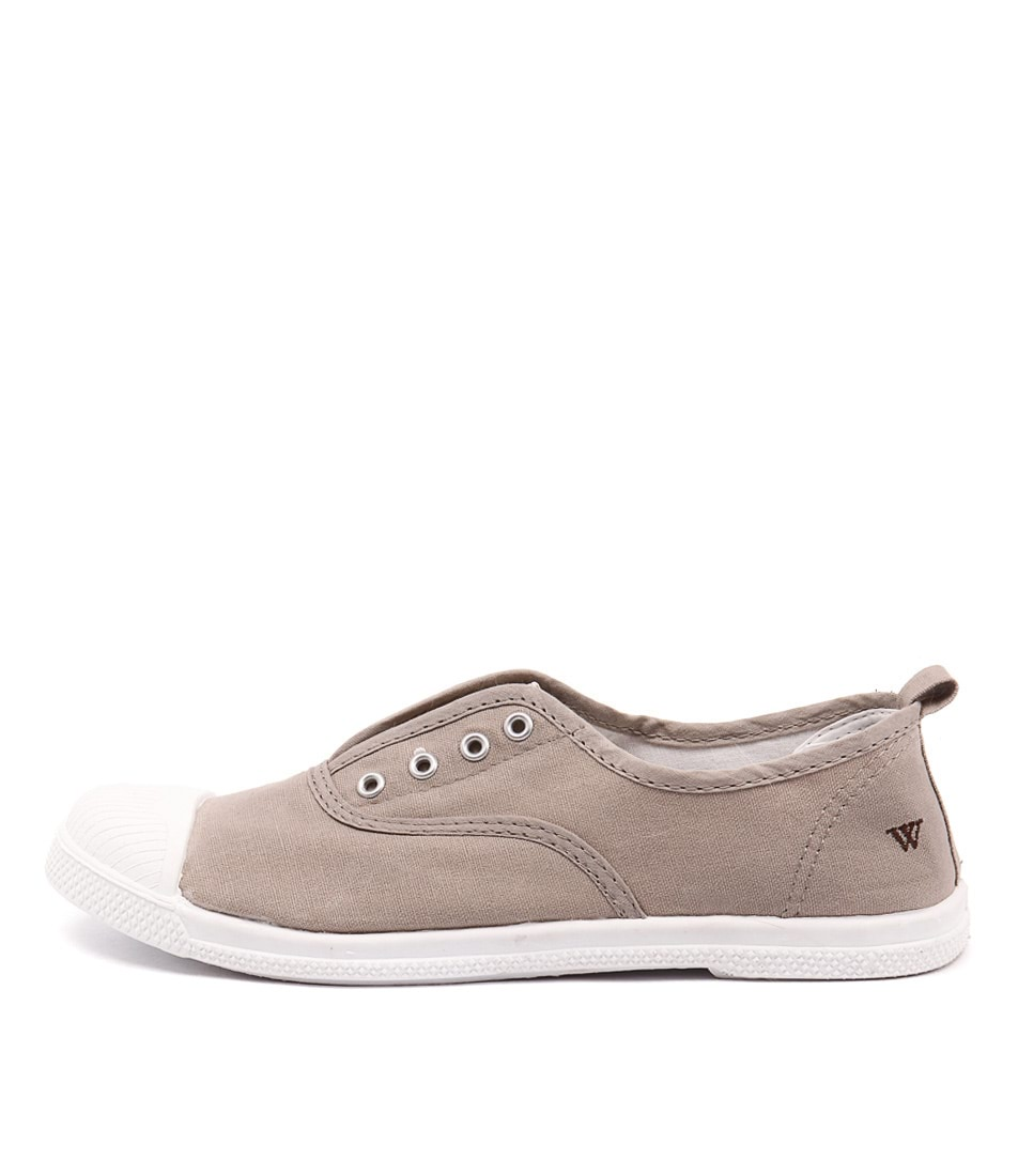 Walnut Euro Plimsole Biscuit Casual Flat Shoes