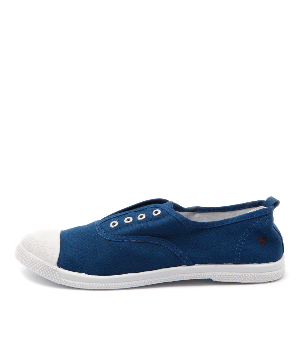 Walnut Euro Elastic Plimsole Ink Sneakers