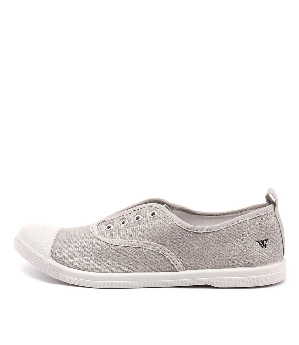 Walnut Euro Plimsole Silver Flat Shoes