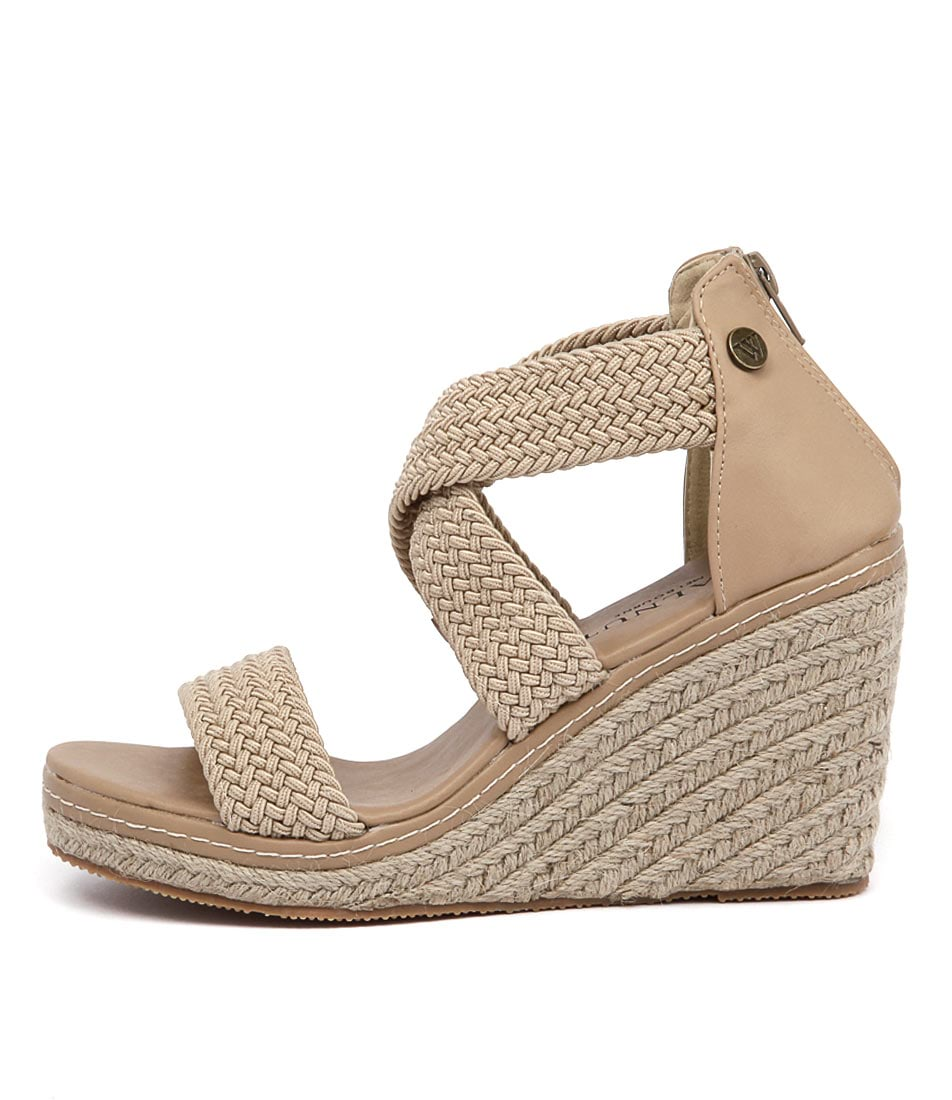Walnut Dusty Wedge Sand Casual Heeled Sandals