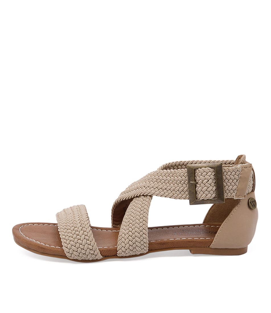 Walnut Amber Rope Sandal Sand Casual Flat Sandals