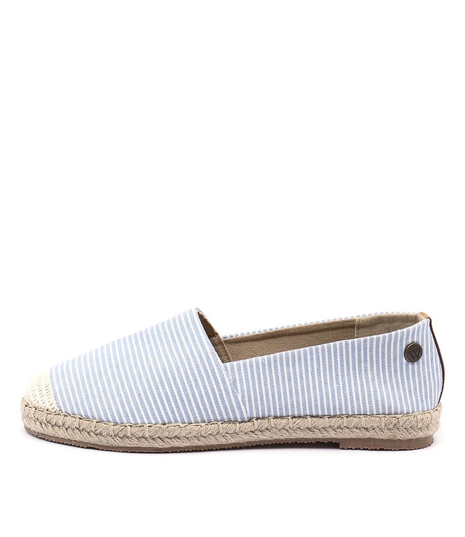 Walnut Moon Espadrille Indigo Stripe Shoes
