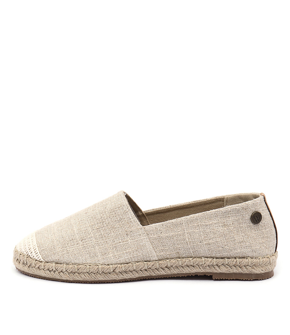 Walnut Moon Espadrille Silver Casual Flat Shoes