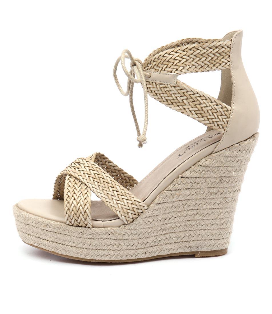 Walnut Rio Wedge Straw Sandals