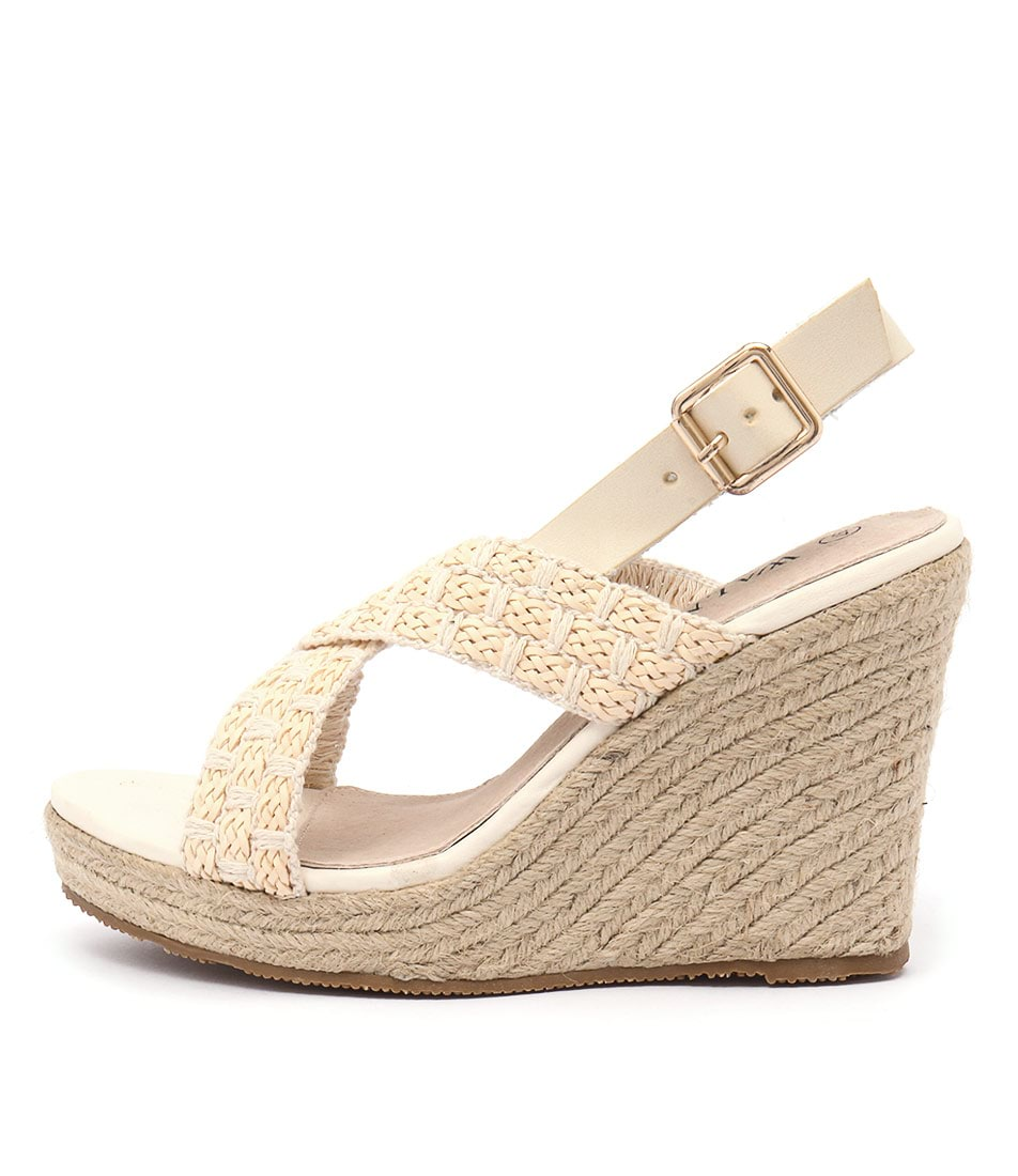 Walnut Malibu Wedge Straw Sandals