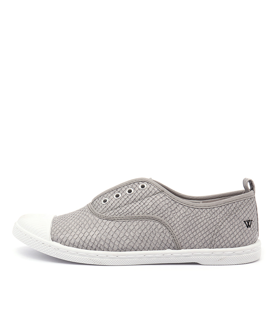 Walnut Euro Plimsole Scale Grey Sneakers