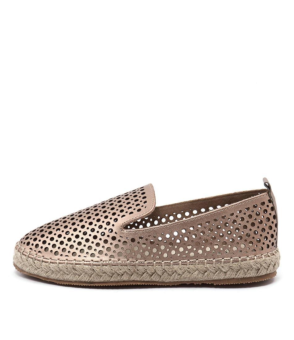 Walnut Sibella Perf Espadrille Rose Gold Flat Shoes