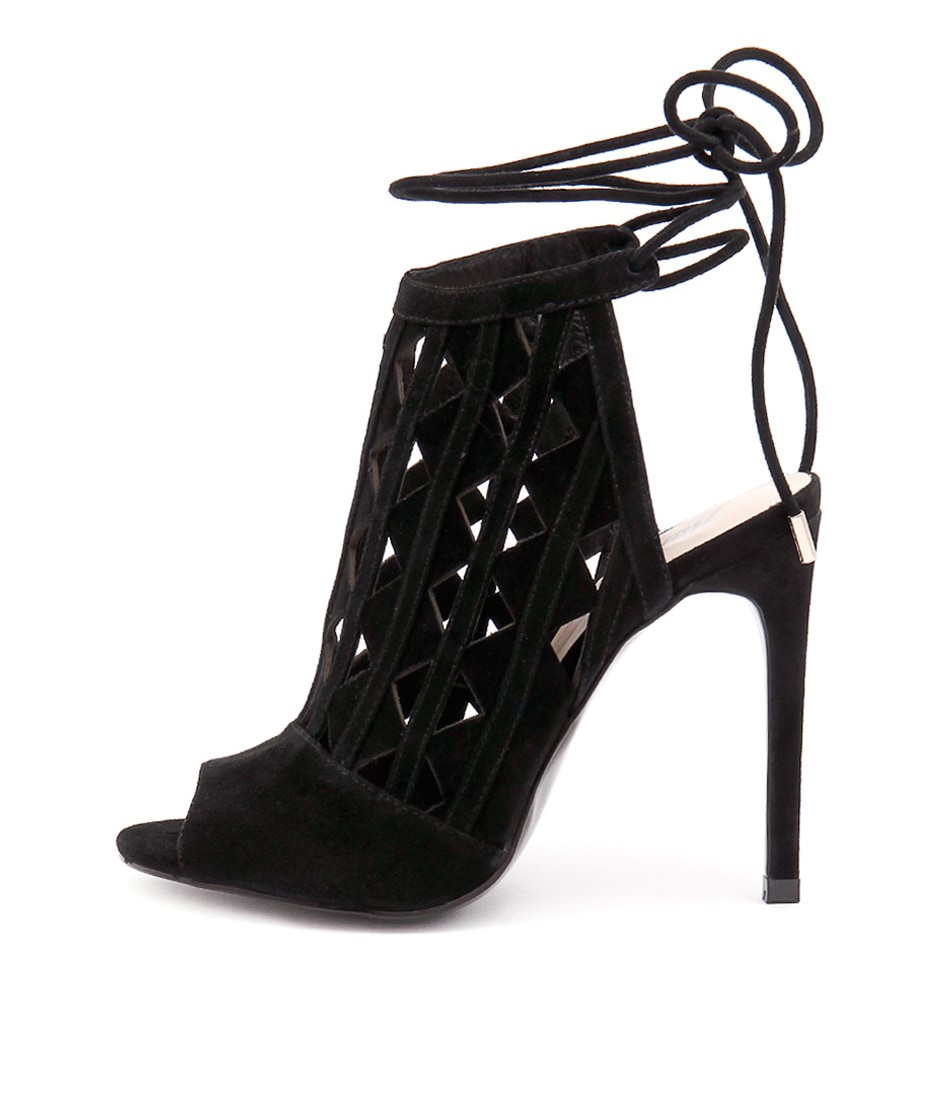 Wanted Lena Wn Black Heeled Sandals