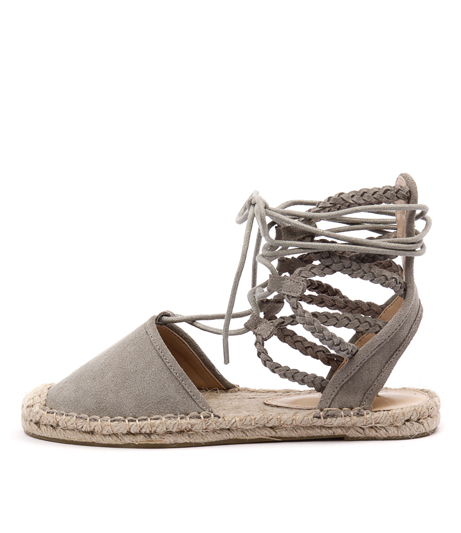buy Wanted Raleigh Grey Flat Shoes shop Wanted Flats online