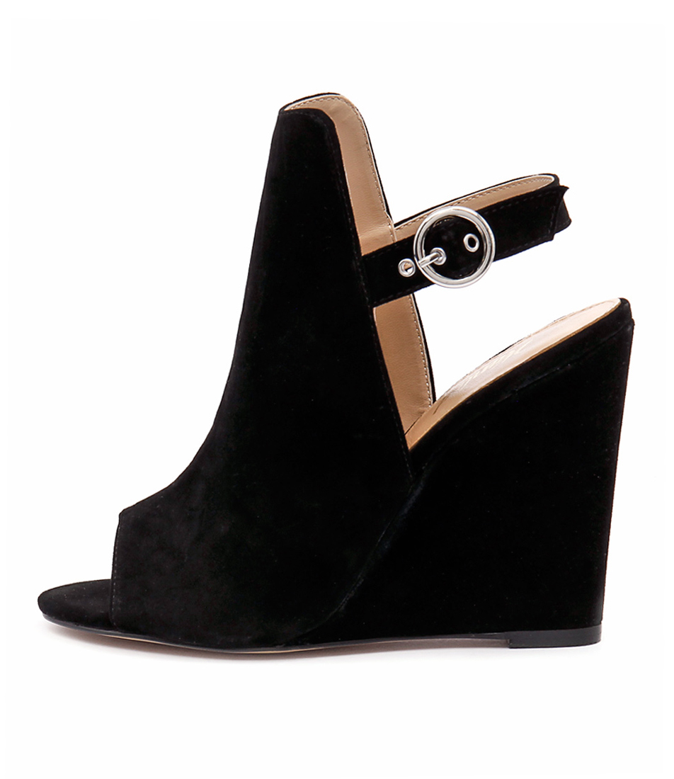 Wanted Teramo Black Heeled Sandals