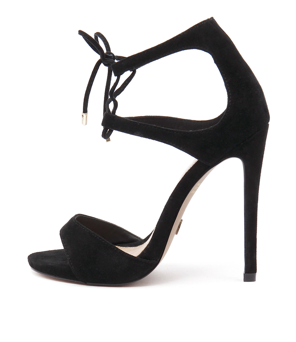 Wanted Pompano Black Heeled Sandals