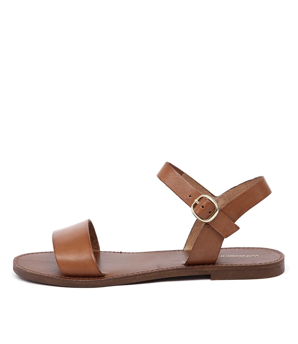 Windsor Smith Bondi Ws Tan Casual Flat Sandals