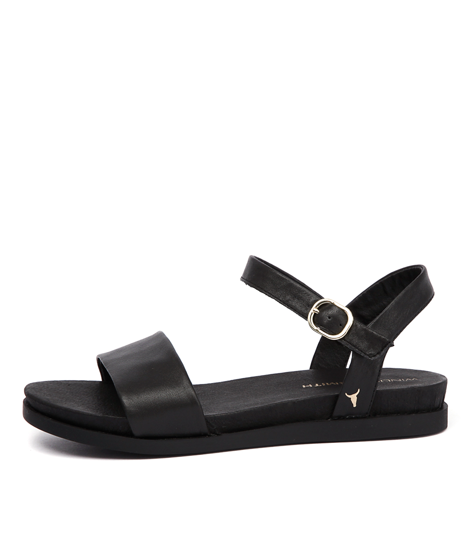 Windsor Smith Lucee Black Casual Flat Sandals