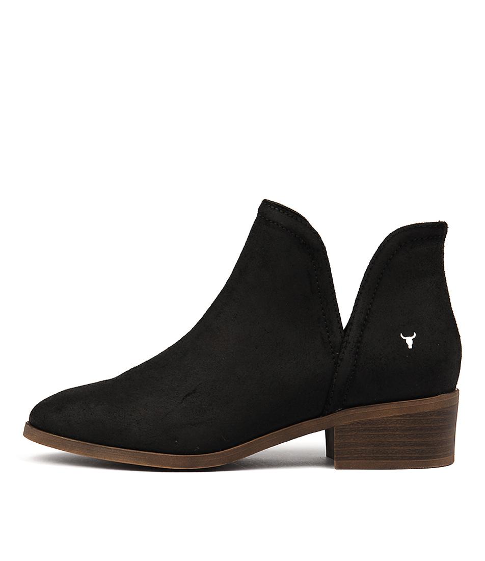 Windsor Smith Razel Black Ankle Boots
