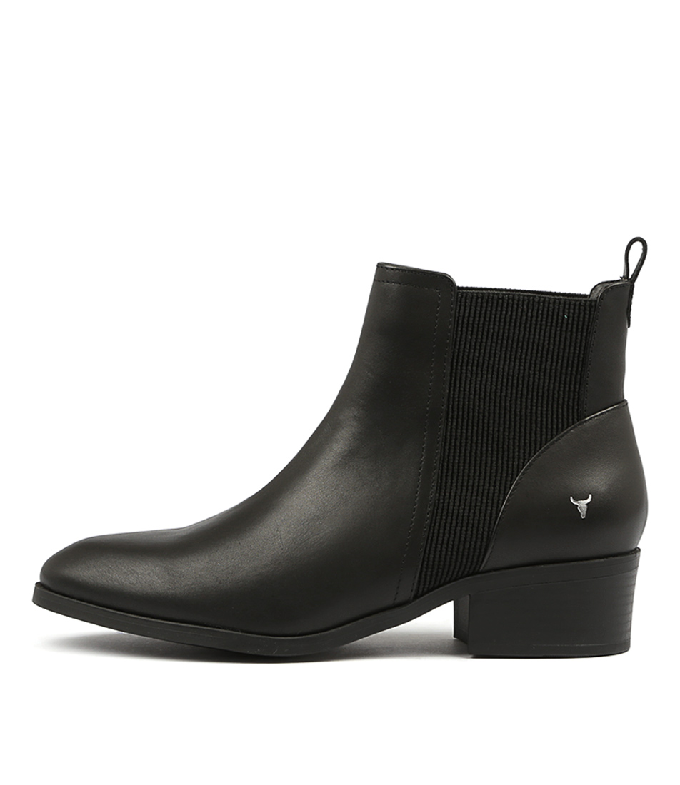 Windsor Smith Raf Black Ankle Boots