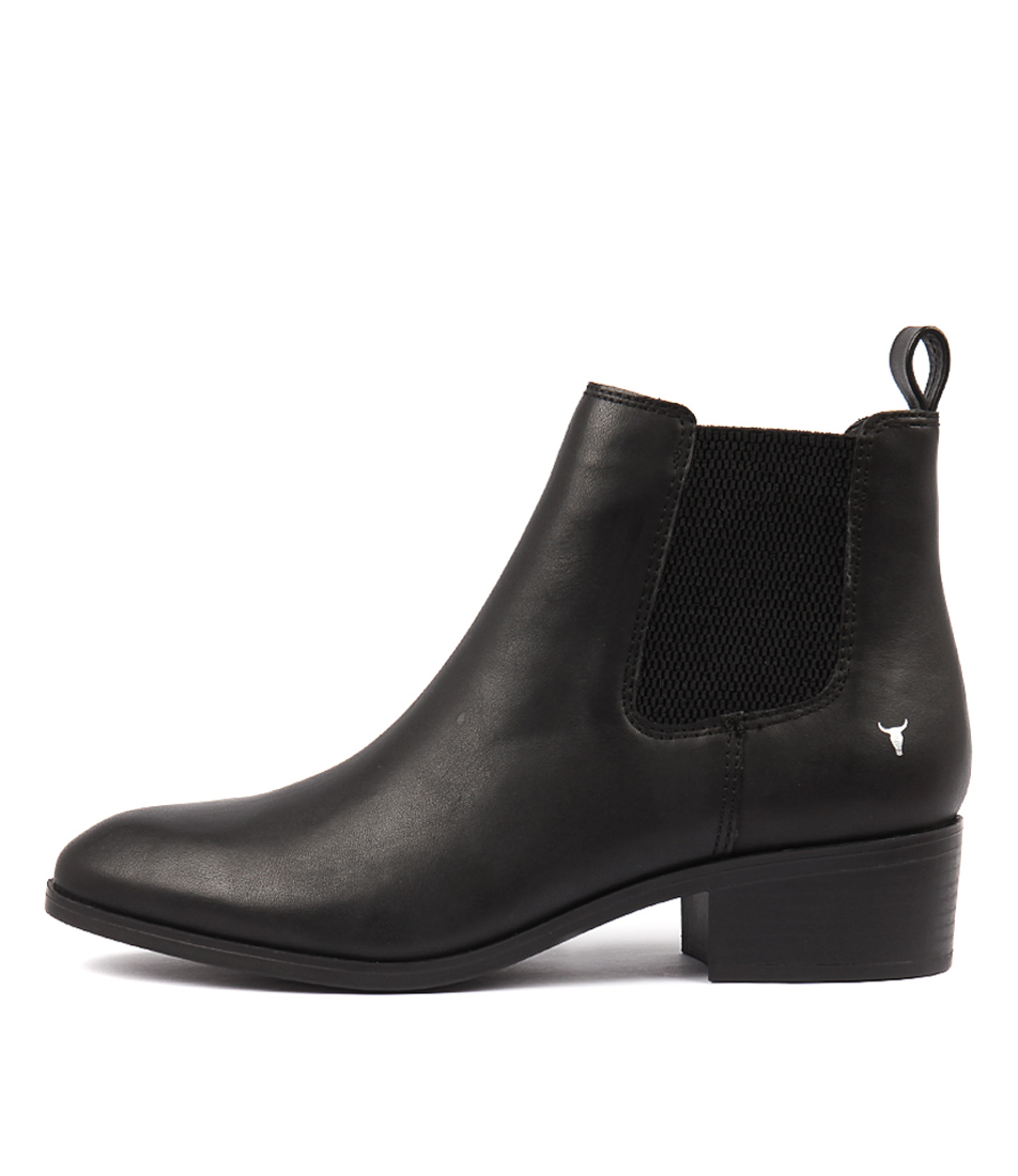 Windsor Smith Ravee Black Ankle Boots