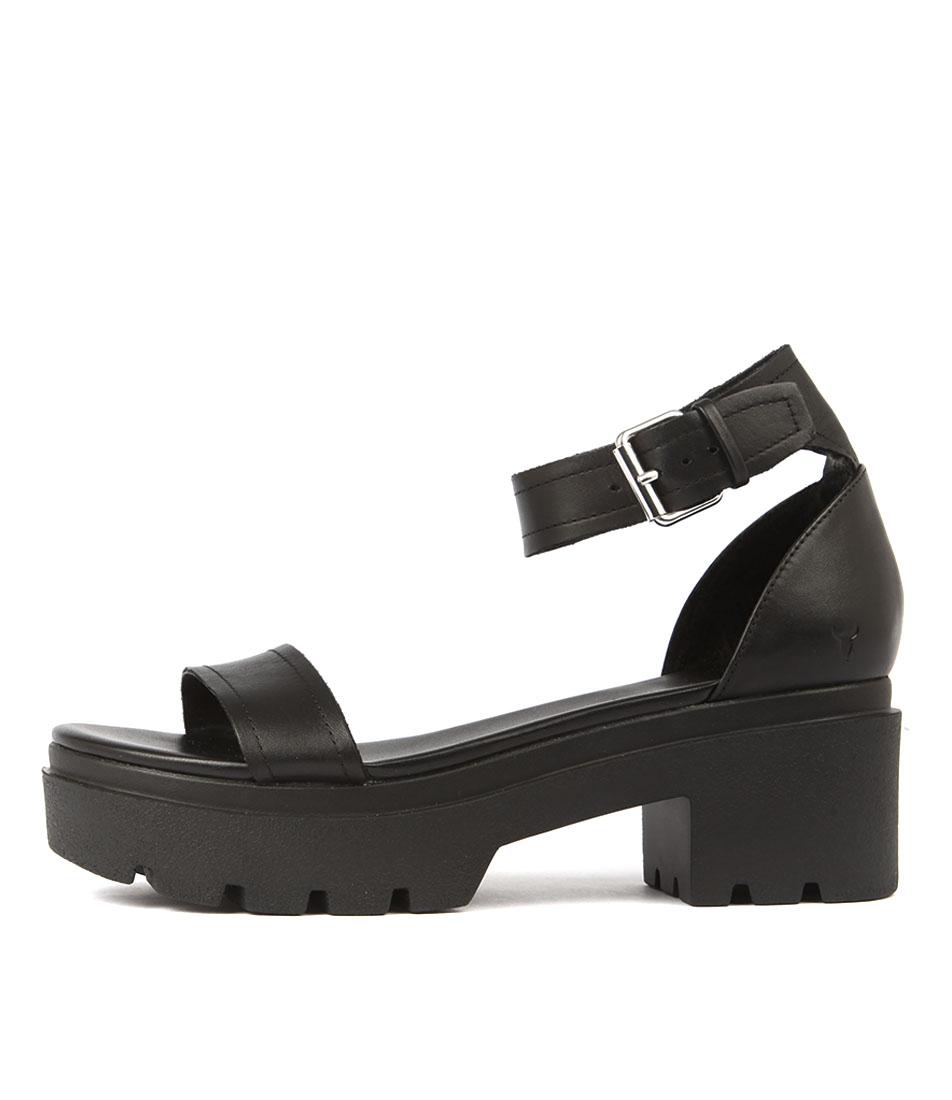 Windsor Smith Elsie Ws Black Flat Sandals