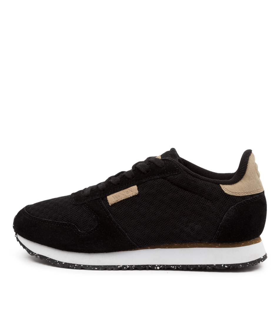 Buy Woden Ydun Suede Mesh Wu Black Sneakers online with free shipping
