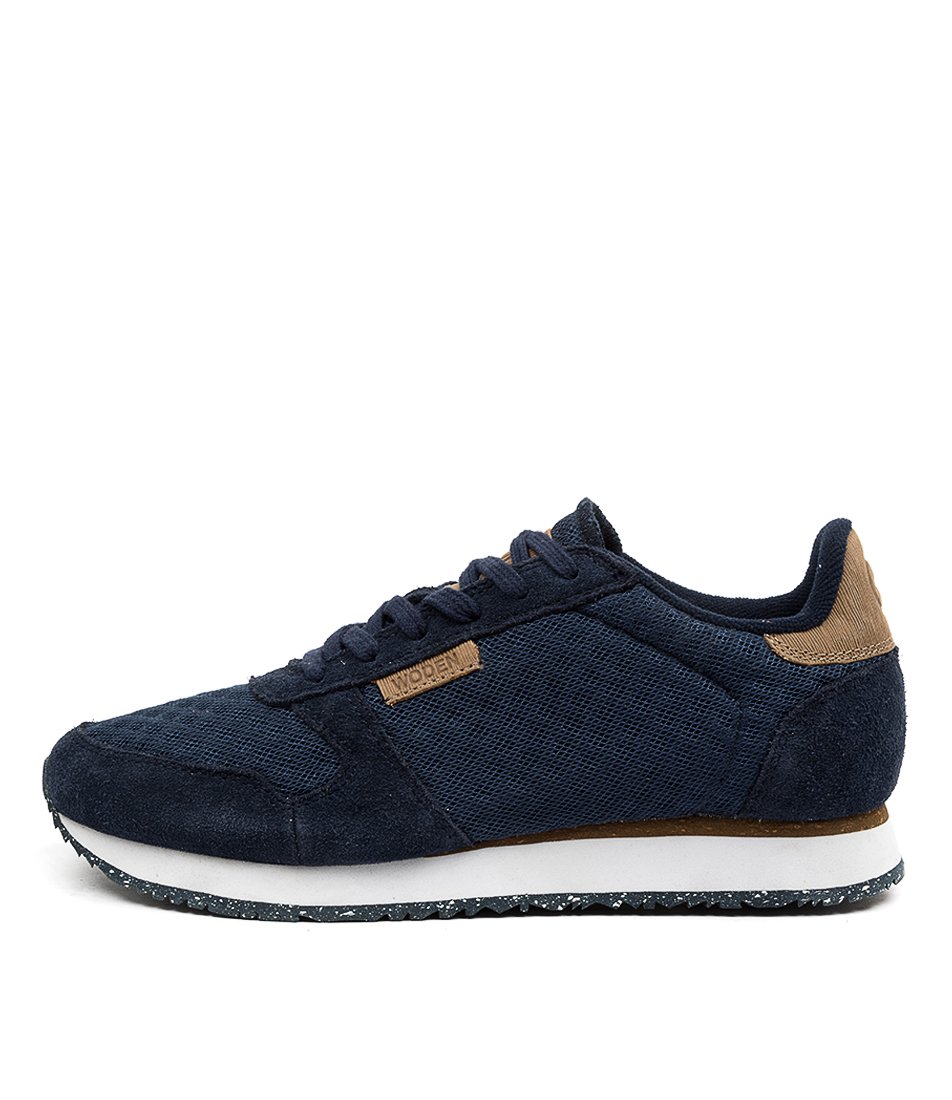 Buy Woden Ydun Suede Mesh Wu Navy Sneakers online with free shipping