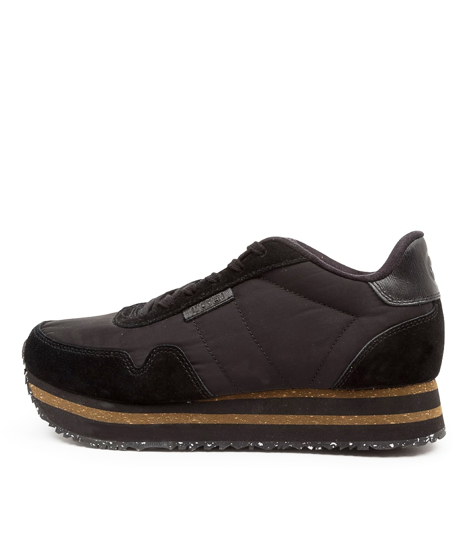 Buy Woden Nora2 Plateau Wu Black Sneakers online with free shipping