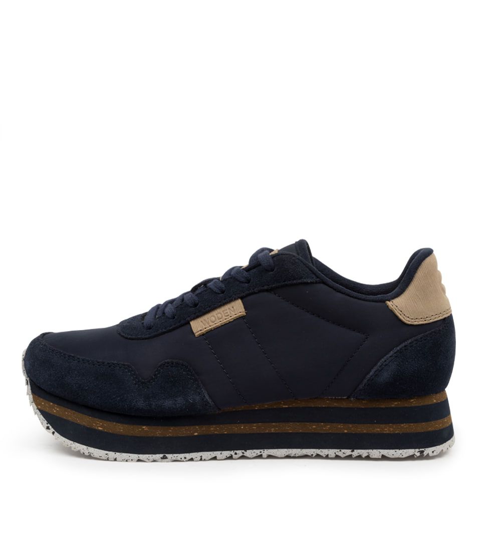 Buy Woden Nora2 Plateau Wu Navy Sneakers online with free shipping