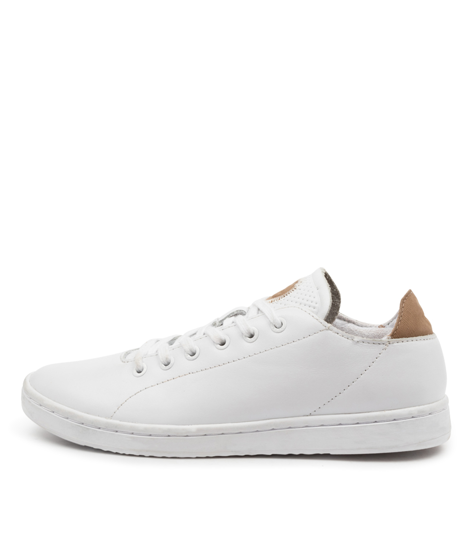 Buy Woden Jane Leather Wu Bright White Sneakers online with free shipping