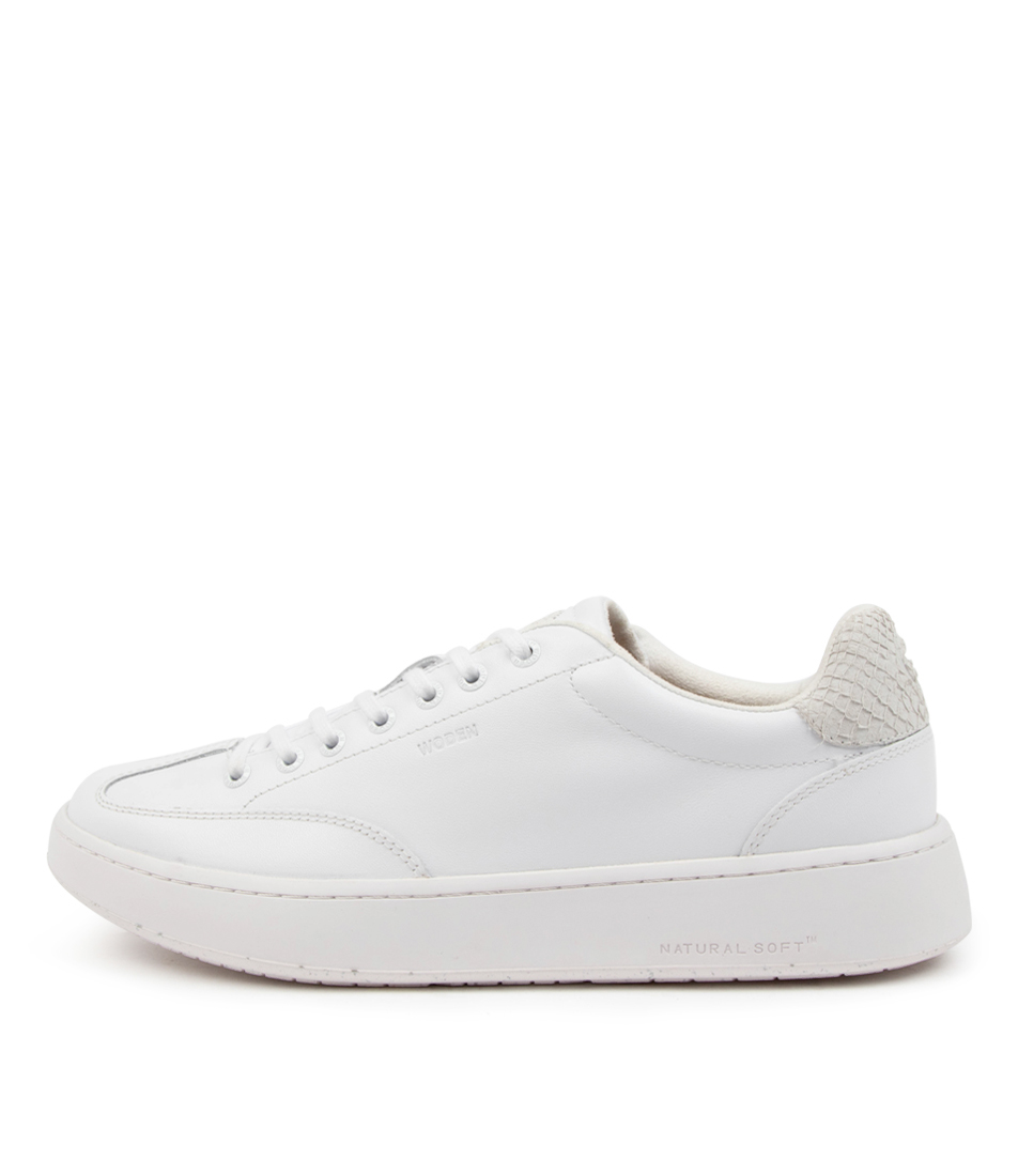 Buy Woden Pernille Leather Wu Bright White Sneakers online with free shipping