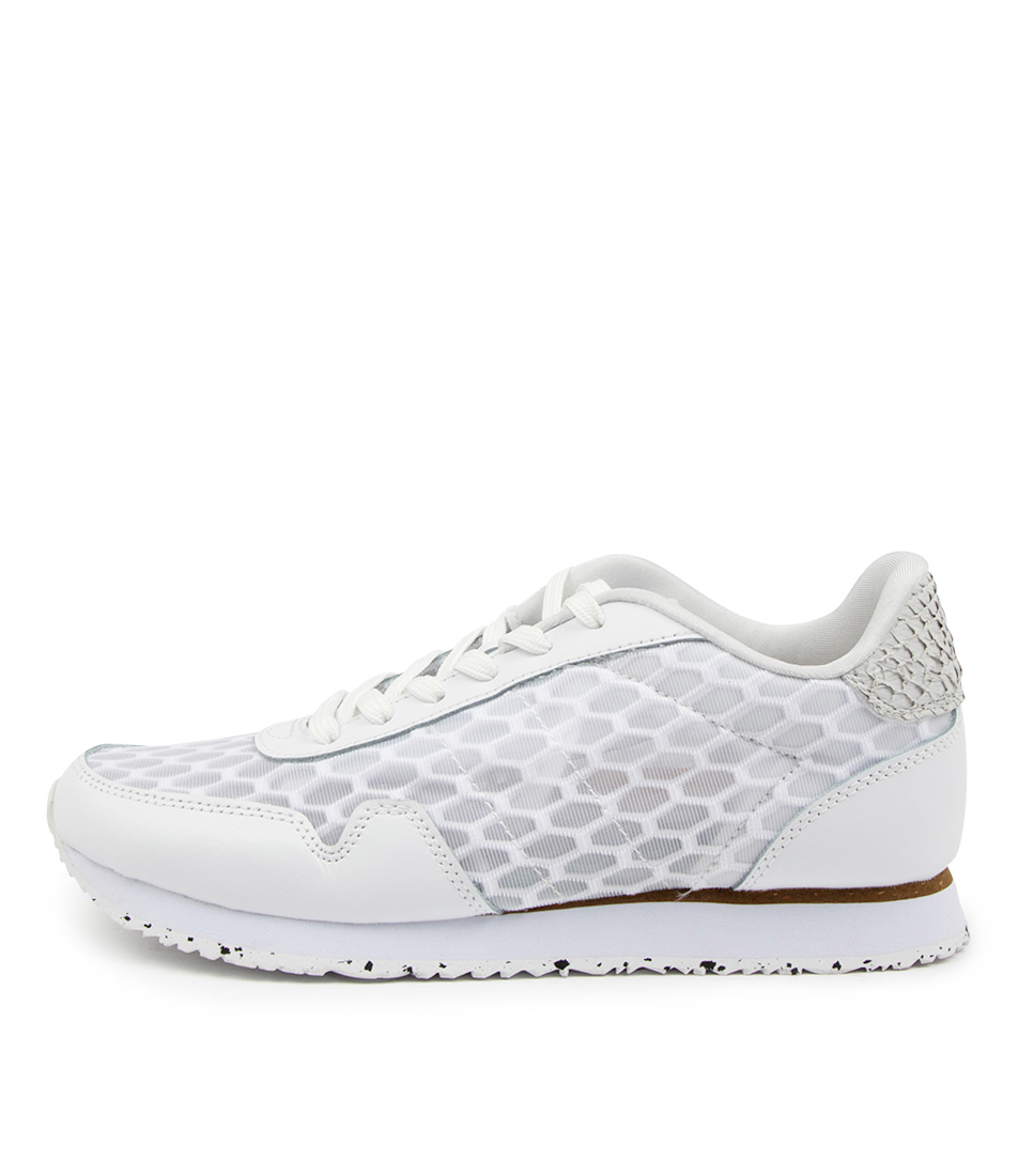Buy Woden Nora Iii Mesh Leather Wu Bright White Sneakers online with free shipping