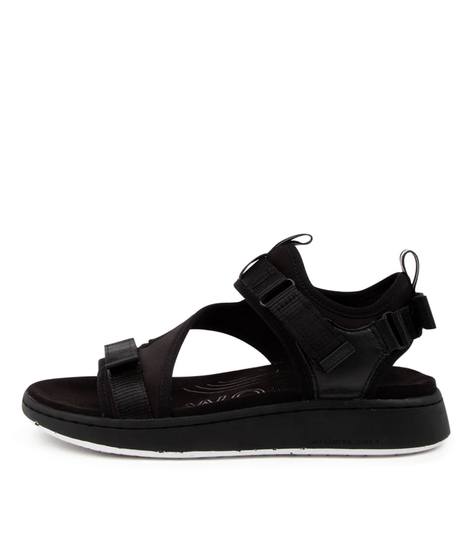 Buy Woden Emilie Wu Black Flat Sandals online with free shipping