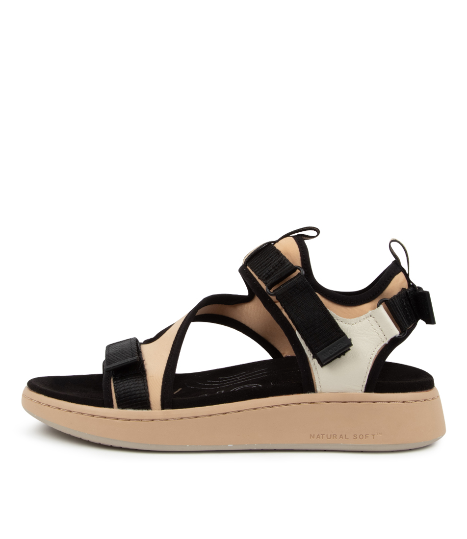 Buy Woden Emilie Wu Beige Flat Sandals online with free shipping