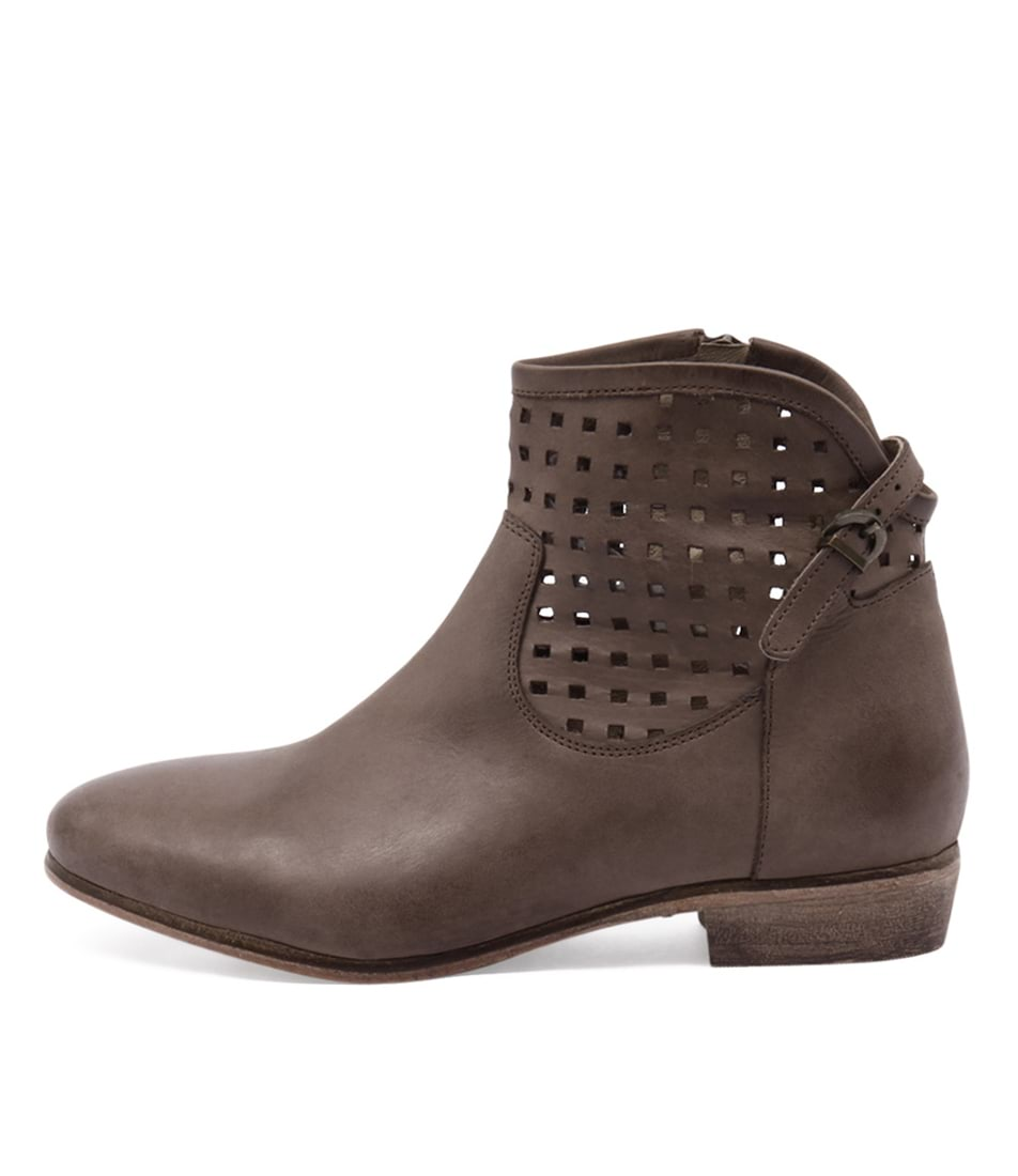 Zensu Lourdes Ze Brown Dress Ankle Boots