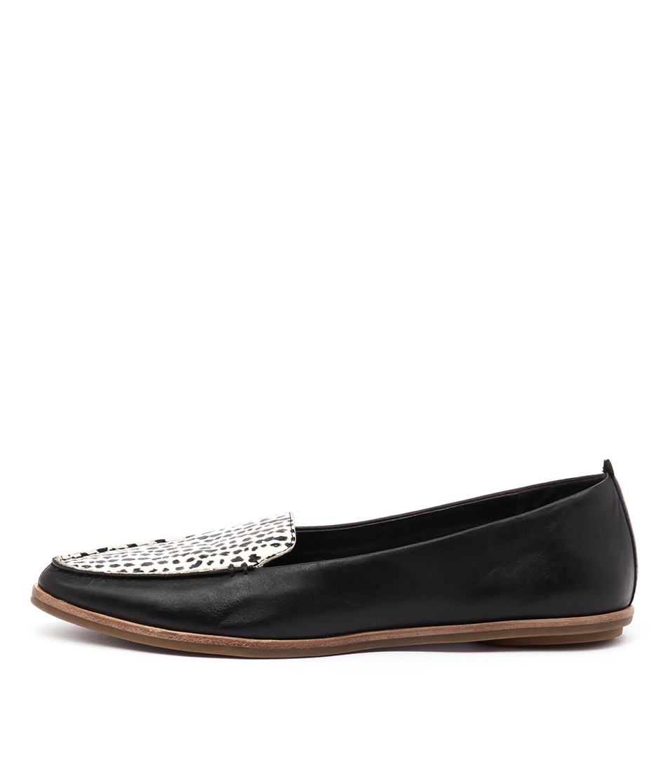 Zensu Aubrey Black Multi Casual Flat Shoes