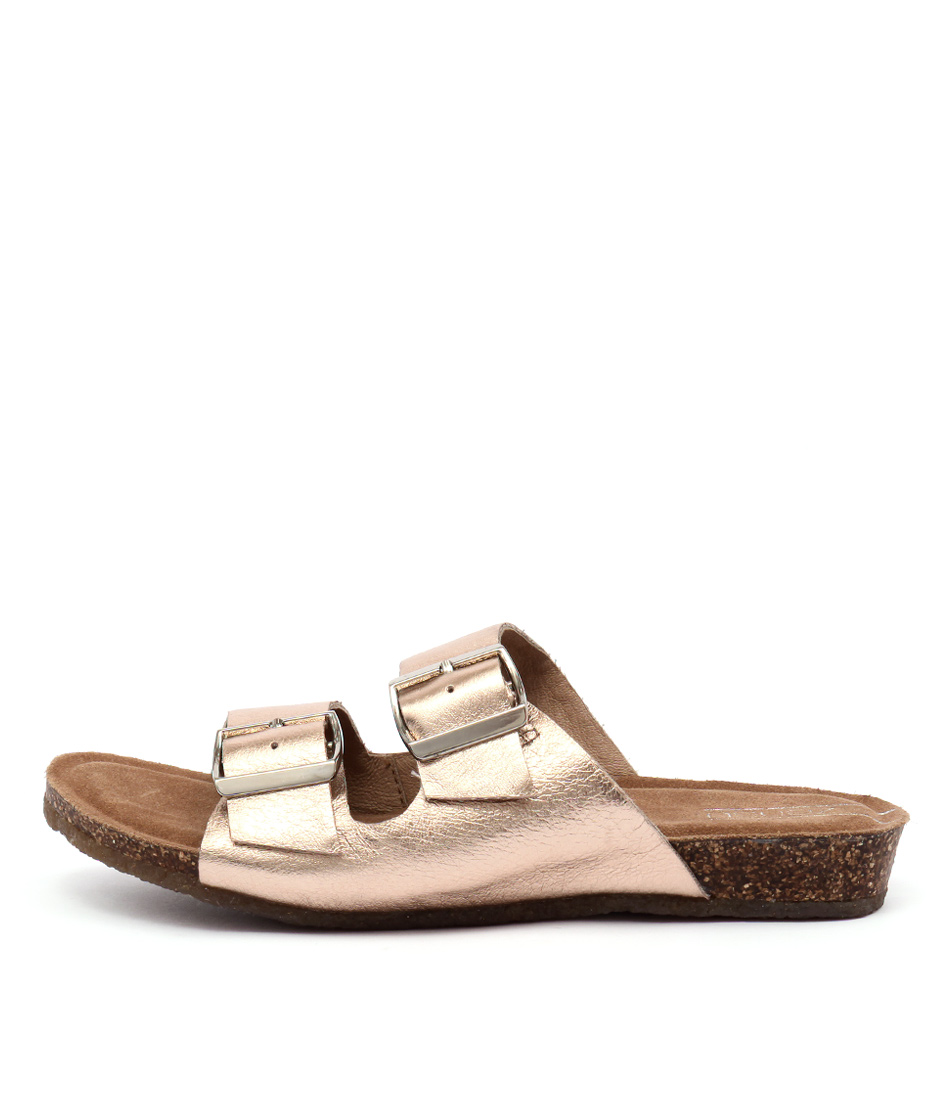 Zensu Odina Ze Rose Gold Flat Sandals