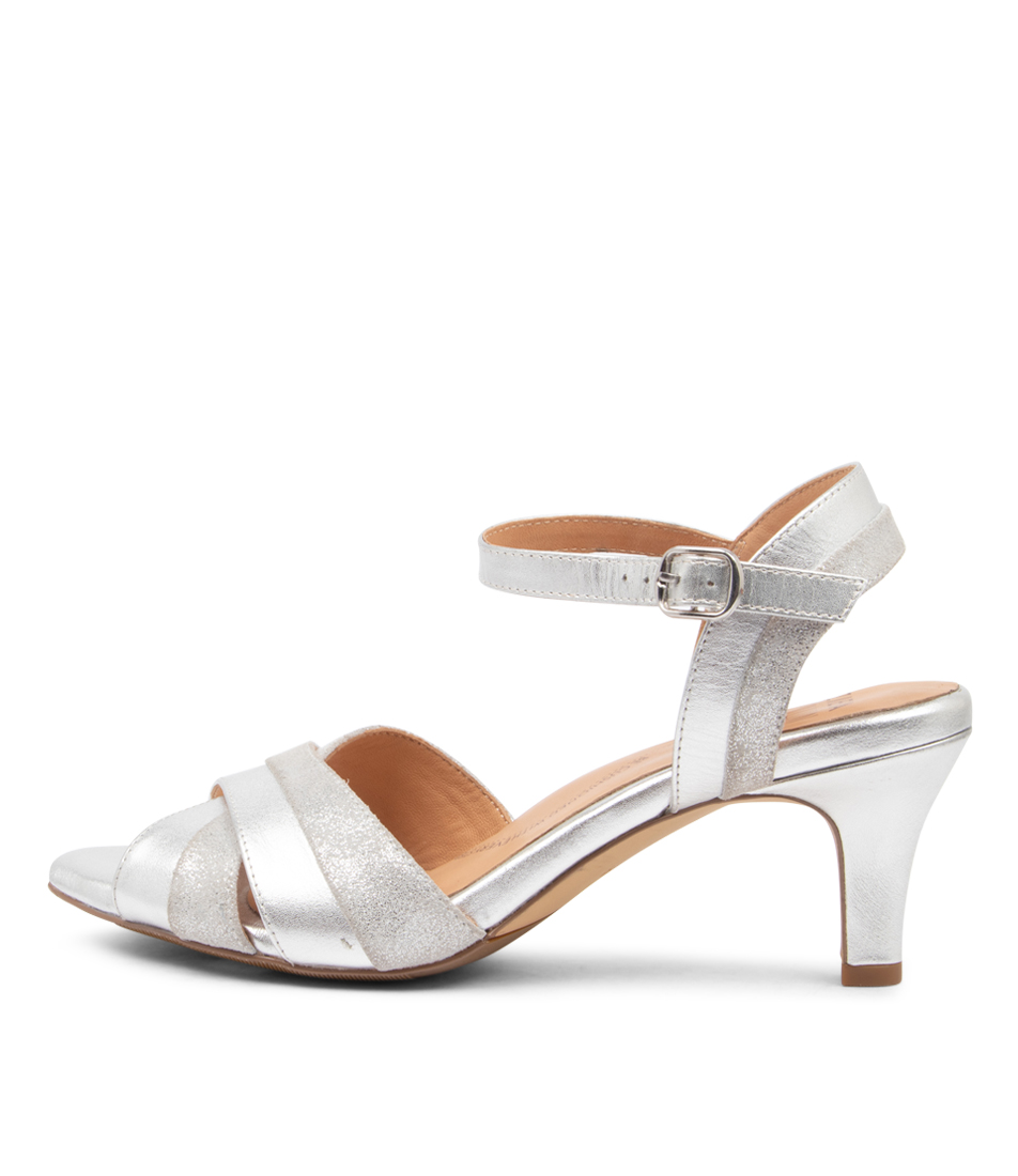 Buy Ziera Sadie Xw Zr Silver Heeled Sandals online with free shipping