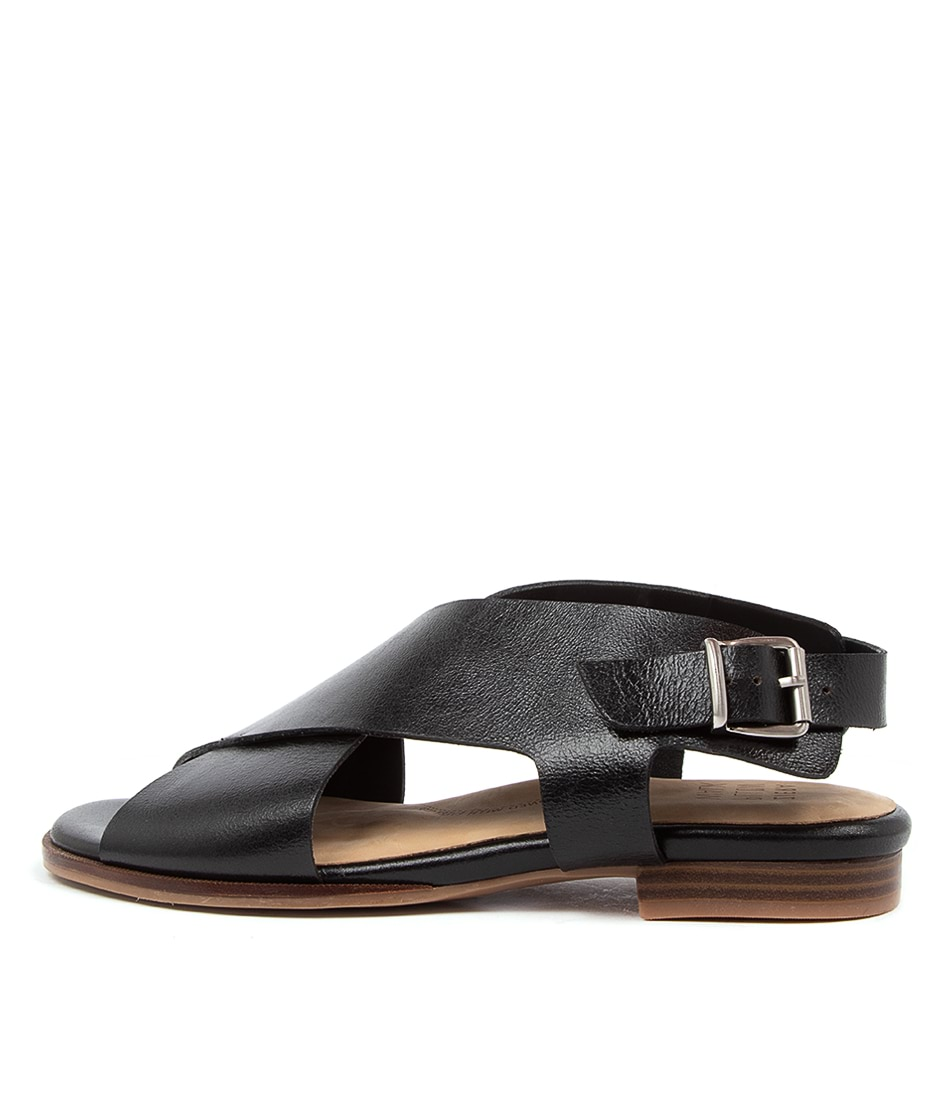 Buy Ziera Tosca W Zr Black Flat Sandals online with free shipping