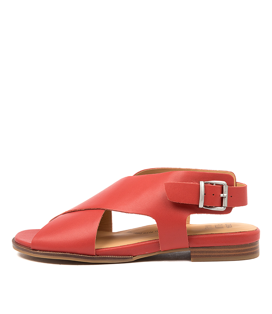 Buy Ziera Tosca W Zr Red Sandals Flat Sandals online with free shipping