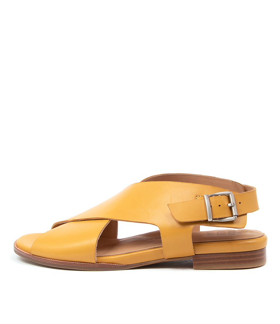 Buy Ziera Tosca W Zr Mustard Flat Sandals online with free shipping
