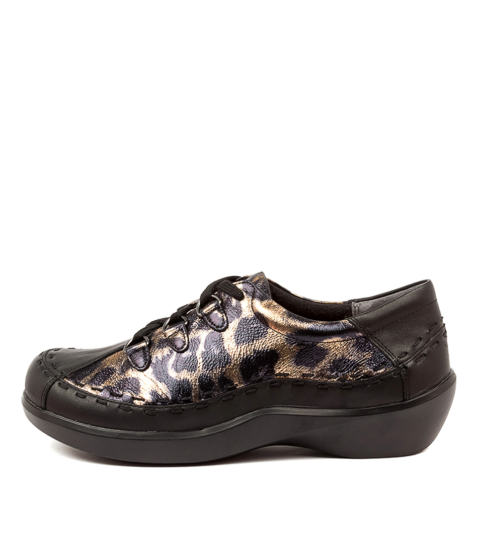 Buy Ziera Allsorts W Zr Black Ocelot Flats online with free shipping