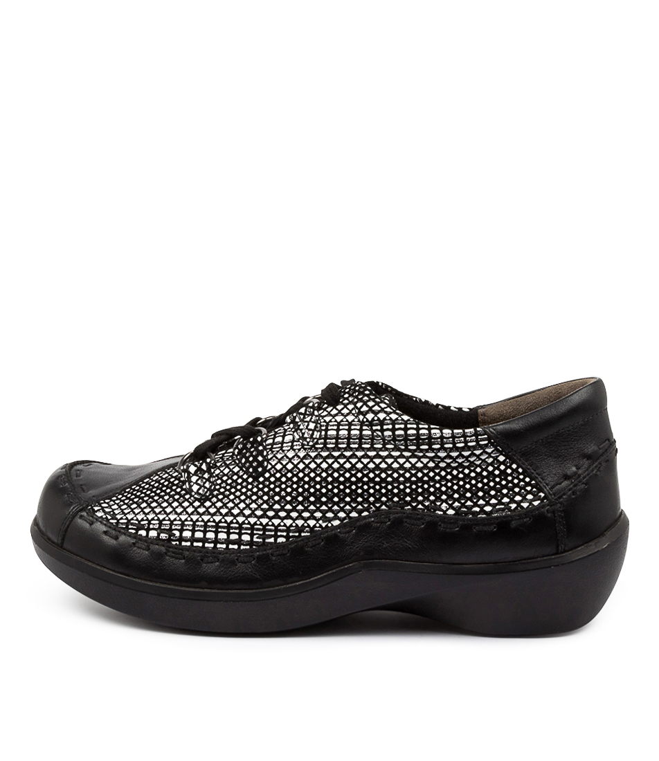 Buy Ziera Allsorts Xw Zr Black & White Flats online with free shipping