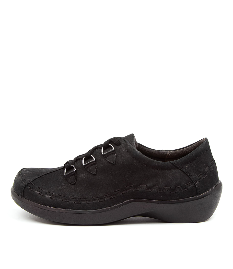 Buy Ziera Allsorts Xw Zr Black Oregon Flats online with free shipping