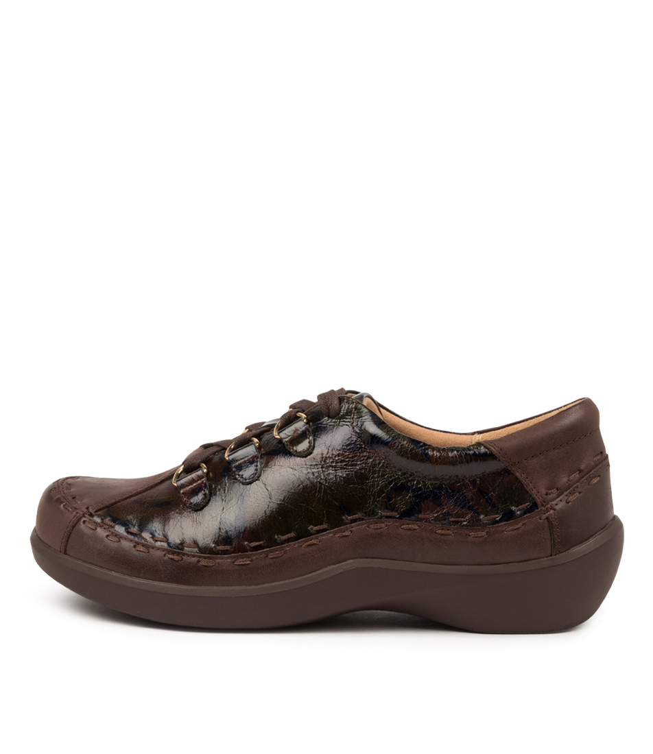 Buy Ziera Allsorts Xw Zr Choc Cocoa Smudge Flats online with free shipping