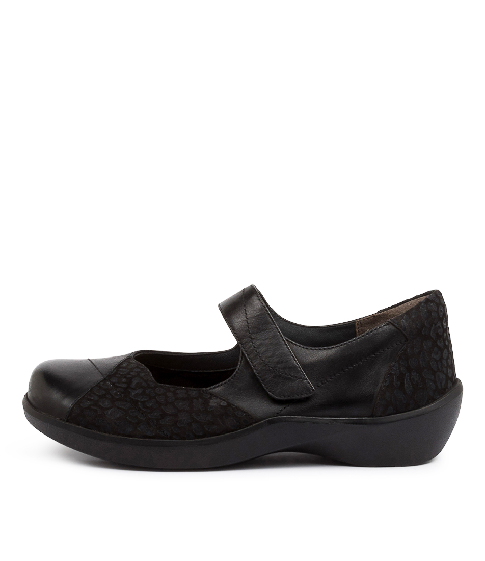 Buy Ziera Ariel W Zr Black Print Flats online with free shipping