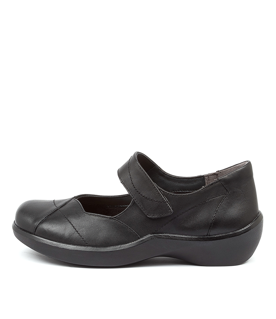 Buy Ziera Ariel Xw Zr Black Flats online with free shipping