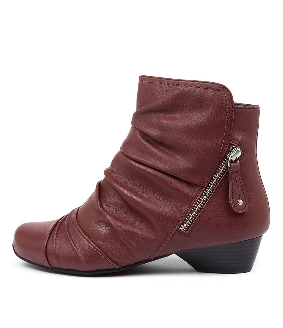 Buy Ziera Camryn Xw Zr Dk Red Ankle Boots online with free shipping