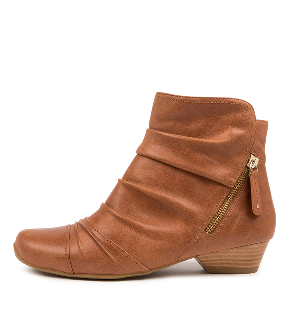 Buy Ziera Camryn Xw Zr Cognac Ankle Boots online with free shipping