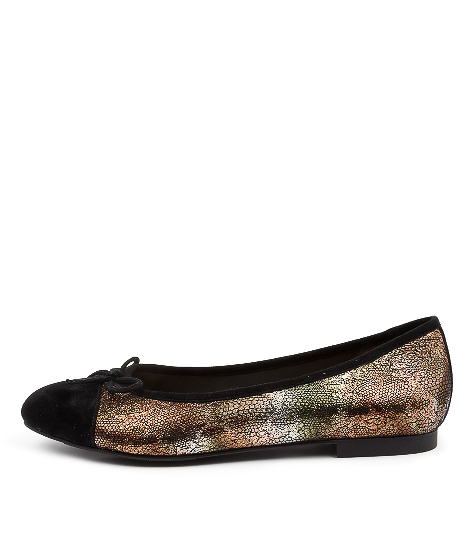 Buy Ziera Chelsea Xf Zr Black Bronze Mi Flats online with free shipping