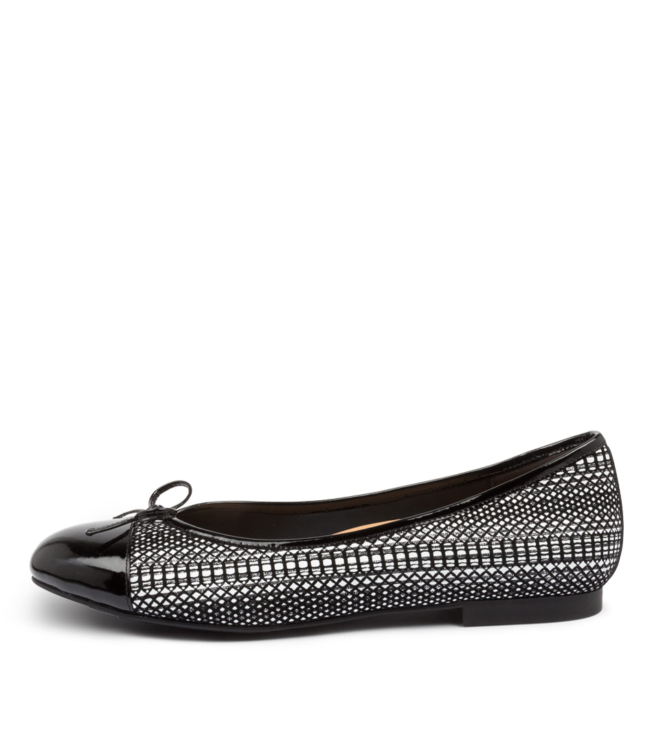 Buy Ziera Chelsea Xf Zr Black & White Flats online with free shipping