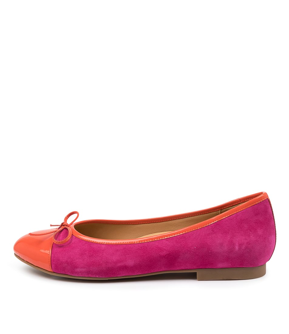 Buy Ziera Chelsea Xf Zr Orange Fuchsia Flats online with free shipping